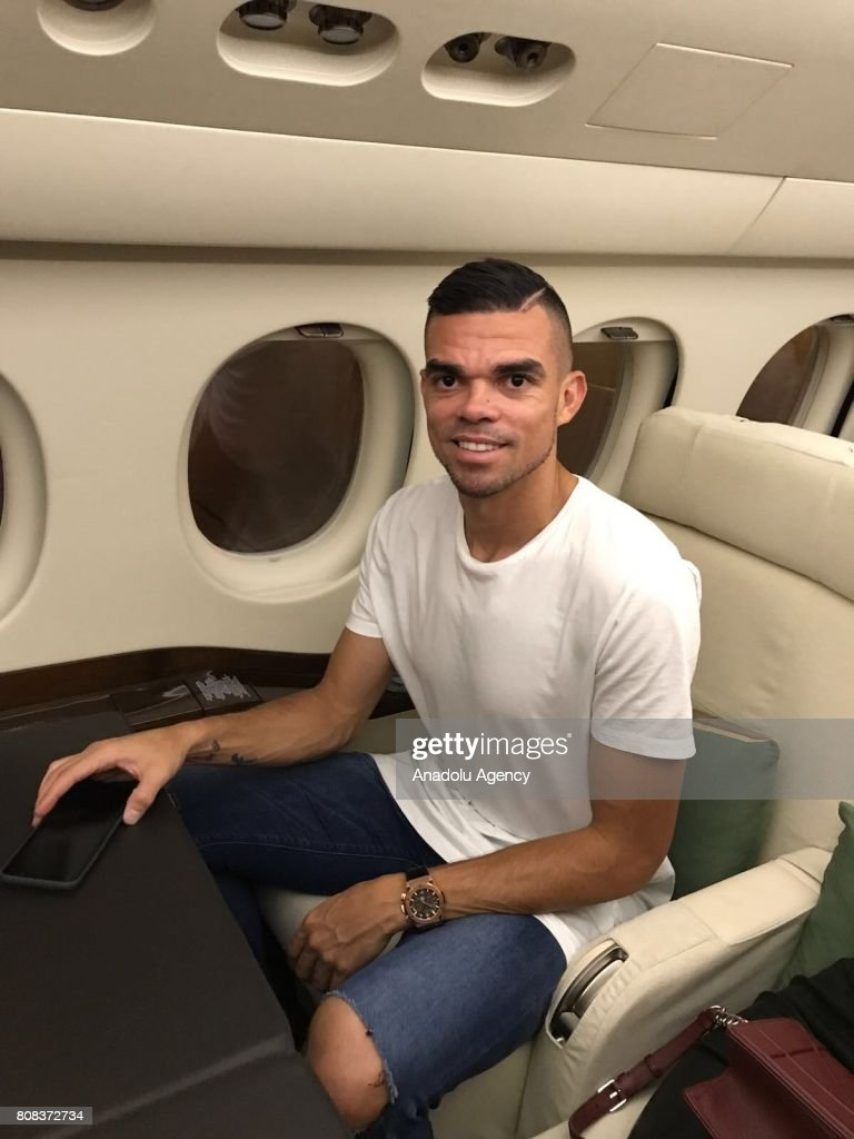 Portuguese footballer Pepe departs from Lisbon to Istanbul : News Photo
