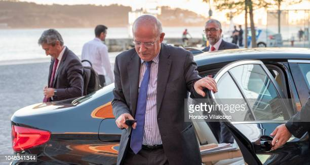 Portuguese Foreign Minister Augusto Santos Silva arrives to participate of the official inauguration of A Lingua Portuguesa em Nos exhibition at...