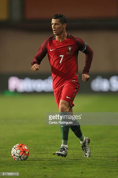 Portuguese forward Cristiano Ronaldo during the match between Portugal and Bulgaria Friendly International at Estadio Municipal de Leiria on March 25...