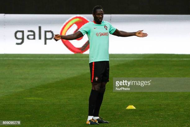 Portuguese forward Eder during National Team Training session before the match between Portugal and Switzerland at Luz Stadium in Lisbon on October 8...