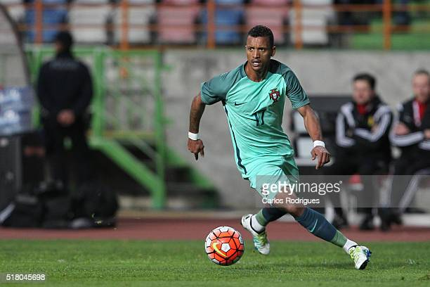 Portuguese forward Nani during the match between Portugal and Belgium Friendly International at Estadio Municipal de Leiria on March 29 2016 in...