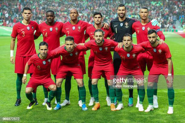 Portuguese initial team during Portugal vs Algeria International Friendly match at Estadio da Luz on June 7 2018 in Lisbon Portugal