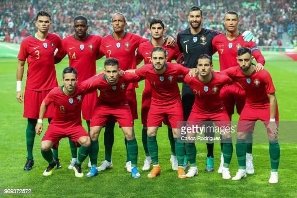 Portuguese initial team during Portugal vs Algeria International Friendly match at Estadio da Luz on June 7 2018 in Lisbon Portugal