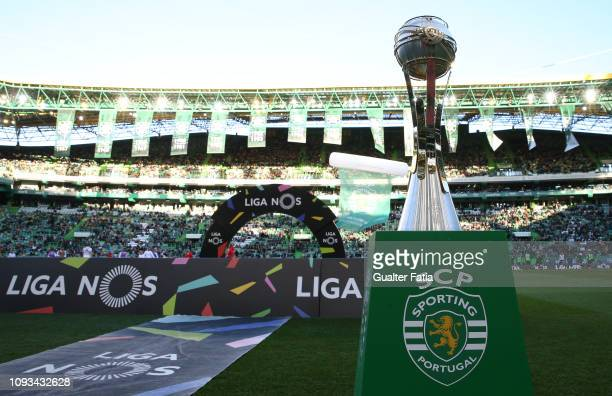 Portuguese League Cup Trophy before the start of the Liga NOS match between Sporting CP and SL Benfica at Estadio Jose Alvalade on February 3 2019 in...