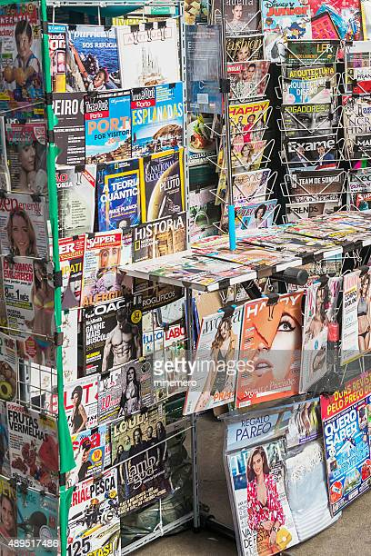 portuguese magazines - magazine rack stock photos and pictures
