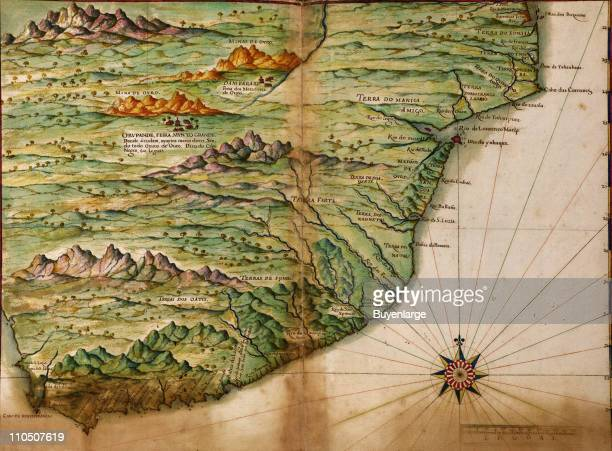 Portuguese map of the East Coast of Africa 1630 Illustration by Joao Teixeira Albernaz