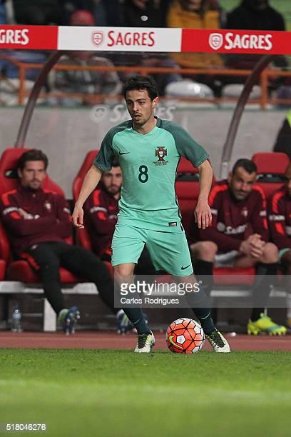 Portuguese midfielder Bernardo Silva during the match between Portugal and Belgium Friendly International at Estadio Municipal de Leiria on March 29...