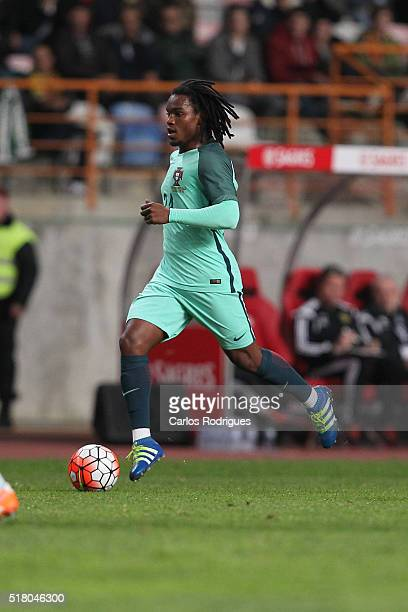 Portuguese midfielder Renato Sanches during the match between Portugal and Belgium Friendly International at Estadio Municipal de Leiria on March 29...