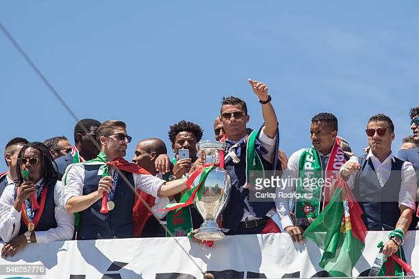 Portuguese midfielder Renato Sanches Portuguese midfielder Adrien Silva Portuguese defender Eliseu Portuguese forward Cristiano Ronaldo Portuguese...