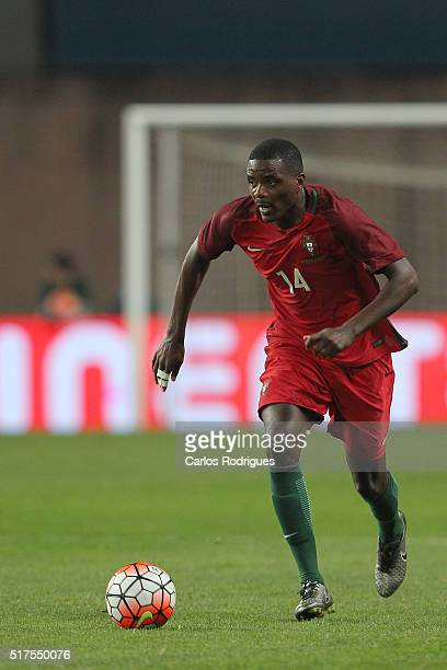 Portuguese midfielder William Carvalho during the match between Portugal and Bulgaria Friendly International at Estadio Municipal de Leiria on March...