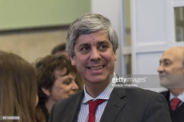 Portuguese Minister of Finance Mario Centeno at the presentation of digital 'Museu Casa Da Moeda' on January 16, 2017 in Lisbon, Portugal. The Casa...