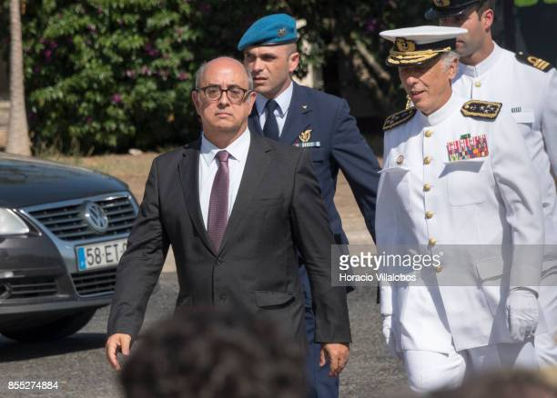 Portuguese Minister of National Defense Jose Alberto Azeredo Lopes and Navy Chief of Staff Admiral Antonio Manuel Fernandes da Silva Ribeiro during...