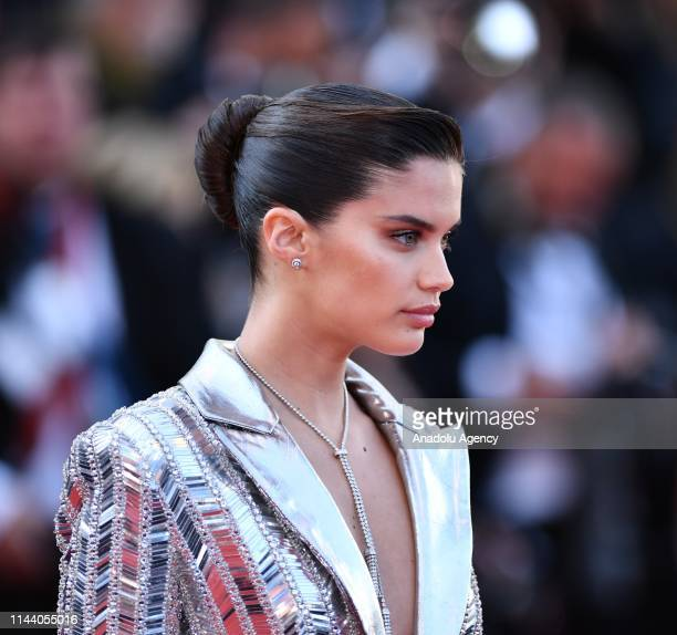 Portuguese model and actress Sara Sampaio arrives for the screening of the film 'Rocketman' during the 72nd annual Cannes Film Festival in Cannes...