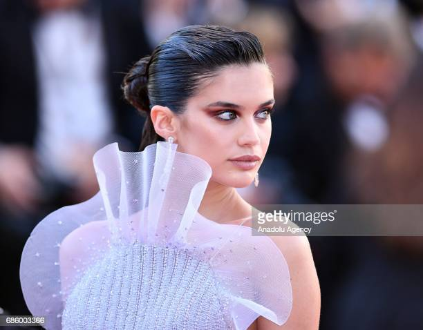 Portuguese model Sara Sampaio arrives for the film '120 Battements par Minute' in competition at the 70th annual Cannes Film Festival in Cannes...