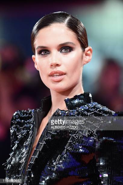 Portuguese model Sara Sampaio arrives for the screening of the film Seberg presented out of competition on August 30 2019 during the 76th Venice Film...