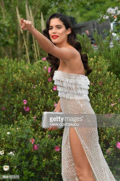 Portuguese model Sara Sampaio attends on May 13 2018 the Fashion For Relief Cannes 2018 event on the sidelines of the 71st edition of the Cannes Film...