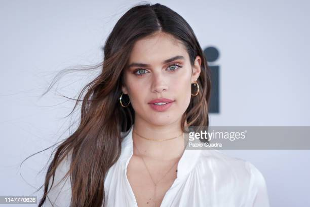 Portuguese model Sara Sampaio presents Xti new collection at Heritage Hotel on May 08 2019 in Madrid Spain