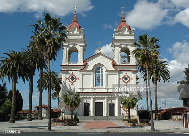 portuguese national church of cinco chagas, san jose, californi - san jose california stock pictures, royalty-free photos & images