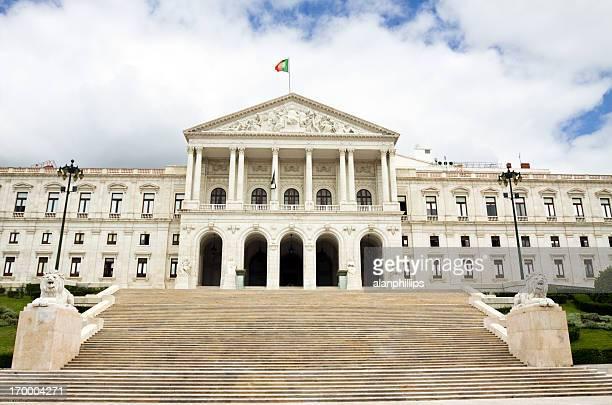 portuguese parliament building in lisbon - portuguese culture stock pictures, royalty-free photos & images
