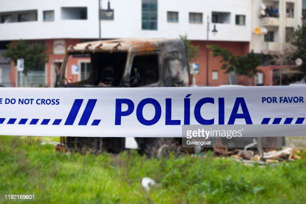 portuguese police tape - gwengoat stock pictures, royalty-free photos & images