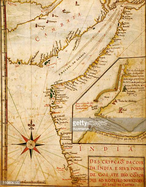 Portuguese Port of Goa in India 1630 Illustration by Joao Teixeira Albernaz