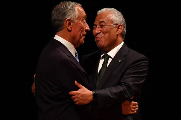Portuguese president marcelo rebelo de sousa l and portuguese portuguese president marcelo rebelo de sousa l and portuguese prime minister antonio costa greet m4hsunfo