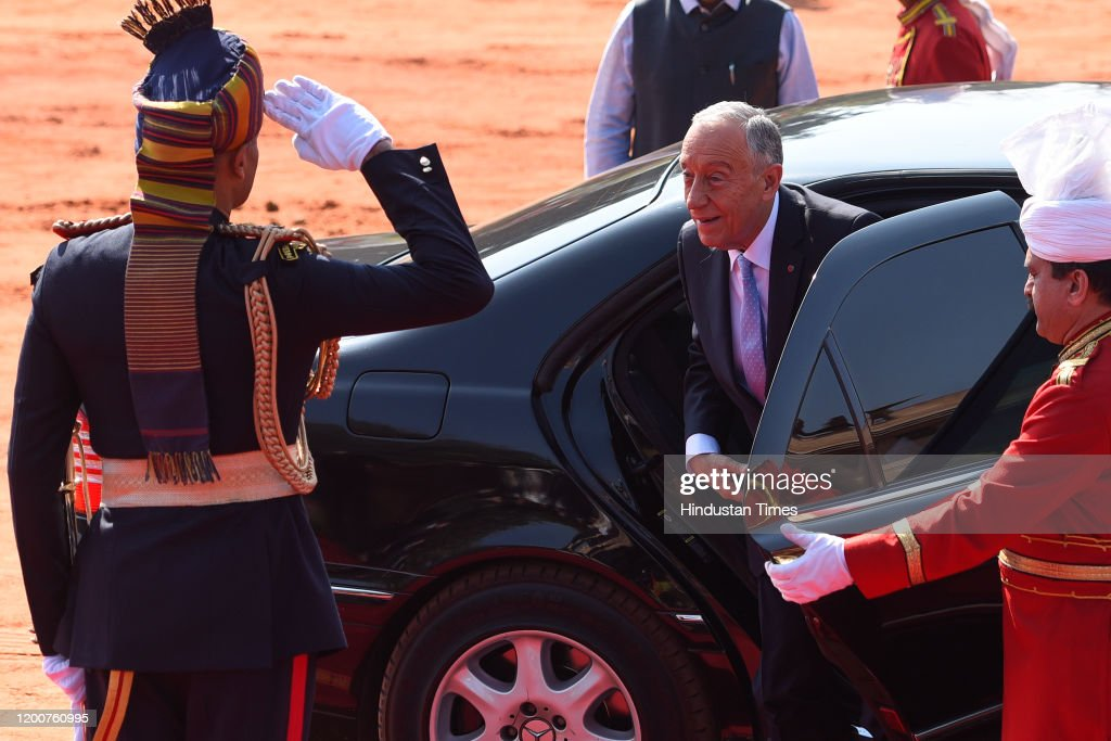 Portuguese President Marcelo Rebelo de Sousa Visits India : News Photo