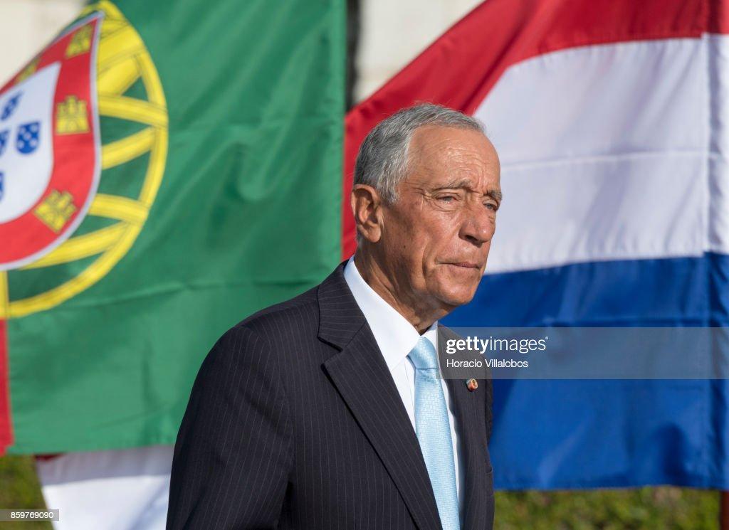Portuguese president marcelo rebelo de sousa arrives to greet king day 1 dutch royals visit portugal news photo m4hsunfo