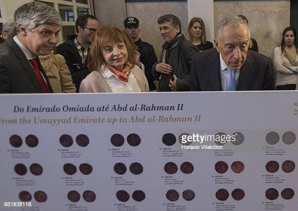 Portuguese President Marcelo Rebelo de Sousa , Minister of Finance Mario Centeno and Minister of the Presidency and of Administrative Modernization...