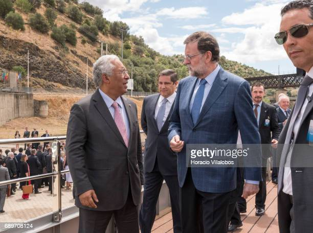 Portuguese Prime Minister Antonio Costa and Spanish Prime Minister Mariano Rajoy board the 'Douro Elegance' a river cruise vessel to start the...