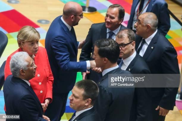Portuguese Prime Minister Antonio Costa German Chancellor Angela Merkel Belgian Prime Minister Charles Michel Swedish Prime Minister Stefan Lofven...