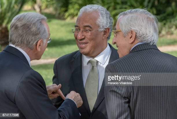 Portuguese Prime Minister Antonio Costa the president of the Banking Foundation 'La Caixa' Isidro Faine and the honorary president of BPI Artur...