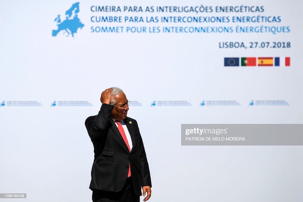 Portuguese prime minister antonio costa waits to greet officials portugal france spain diplomacy energy summit news photo m4hsunfo