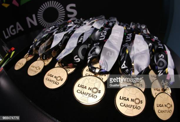 Portuguese Primeira Liga Champion medals before the start of the Primeira Liga match between FC Porto and CD Feirense at Estadio do Dragao on May 6...