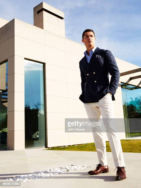 Portuguese professional footballer Cristiano Ronaldo is photographed for Saccor Brothers on December 11 2014 in Madrid Spain