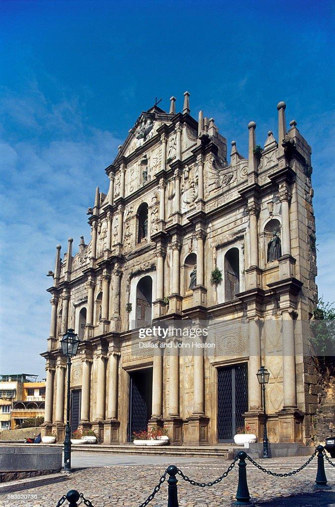 Portuguese ruins of St Paul, Macau, China : Stock Photo