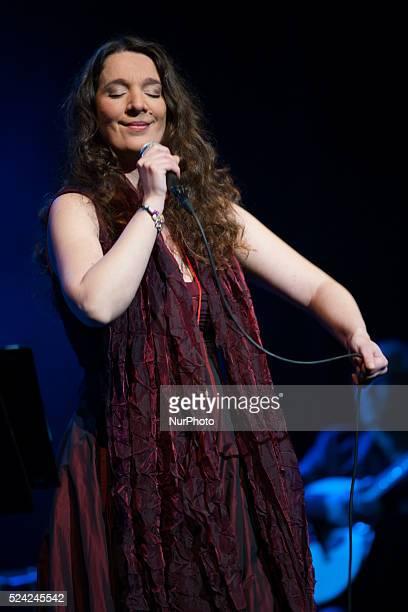 Portuguese singer Dulce Pontes presents her new album Puertos de abrigo at Teatro Lope de Vega Seville Spain 4 february 2014 Photo Daniel Gonzalez...