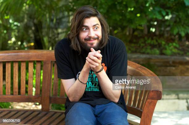 Portuguese singer Salvador Sobral presents his tour in Spain at SGAE on June 21 2018 in Madrid Spain