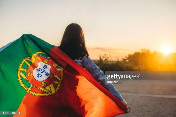 portuguese spirit - bandeira de portugal imagens e fotografias de stock