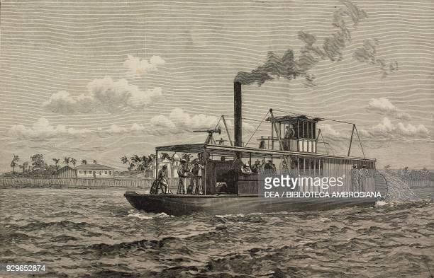 Portuguese steam boat in Delagoa bay Mozambique from La Tribuna Illustrata No 6 February 9 1890
