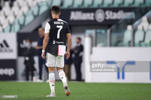 Portuguese striker Cristiano Ronaldo of Juventus during the Serie A match between Juventus and Atalanta BC at Allianz Stadium on July 11, 2020 in...