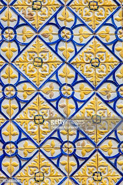 portuguese tiles in sao luis. - maranhao state stock pictures, royalty-free photos & images