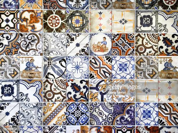portuguese tiles - portuguese culture stock pictures, royalty-free photos & images
