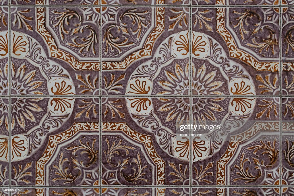 Portugués vintage con azulejos de cerámica : Foto de stock