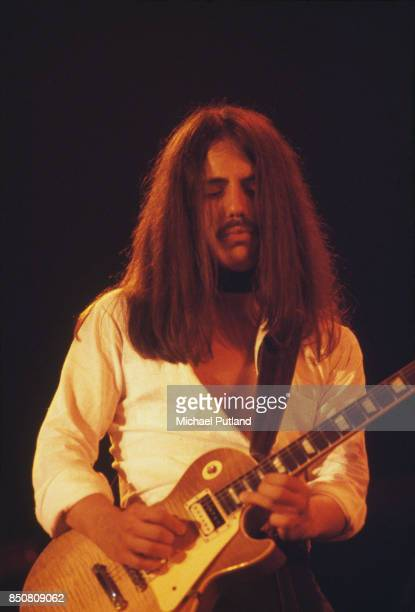 PortugueseAmerican guitarist and songwriter Craig Chaquico of rock group Jefferson Starship performs on stage New York USA September 1978