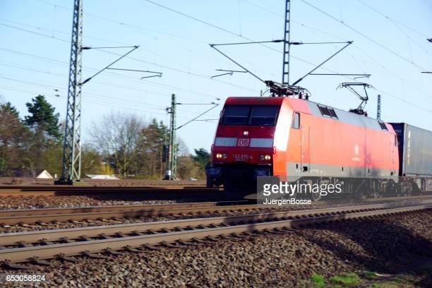 Porz / Deutschland - 12.03.2017: deutsche Züge im Rheinland