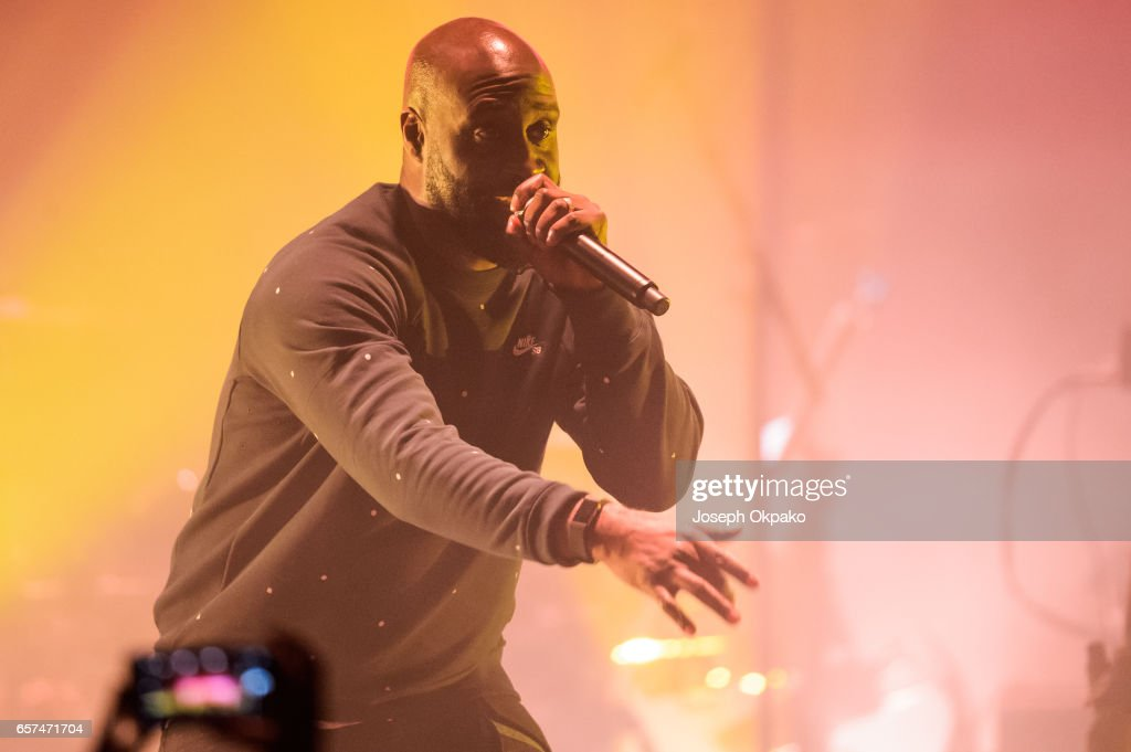 Posdnous of De La Soul performs with Gorillaz on their new album 'Humanz' live on March 24, 2017 in London, United Kingdom.