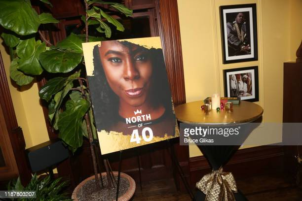 pose at the celebration for the North of 40 Podcast Launch at Dapper Dan Atelier on November 14 2019 in New York City