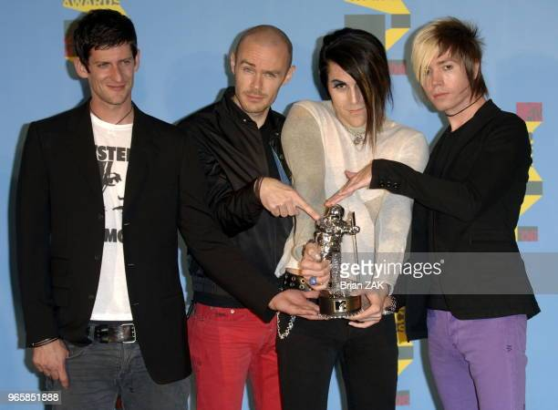 AFI pose in the press room during the 2006 MTV Video Music Awards at Radio City Music Hall New York City BRIAN ZAK