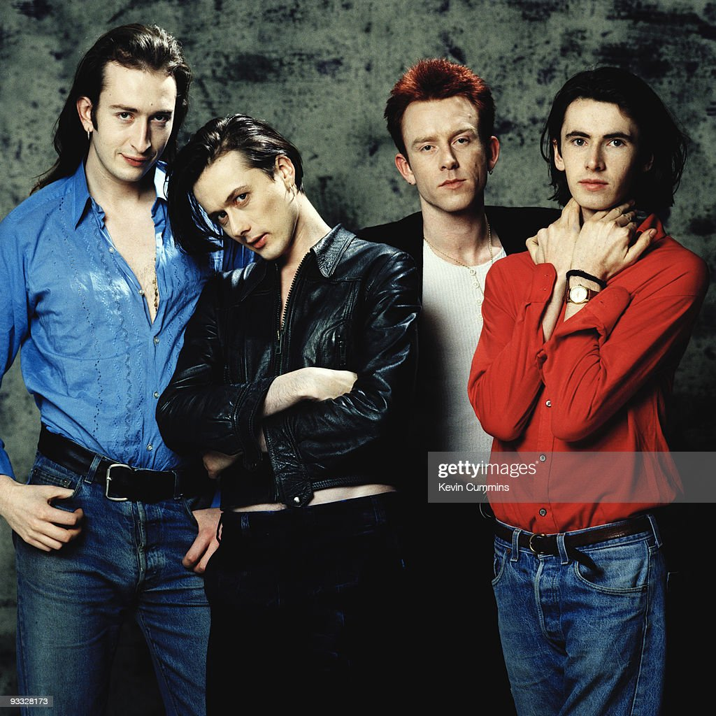 Posed Group Portrait Of British Band Suede In March 1993